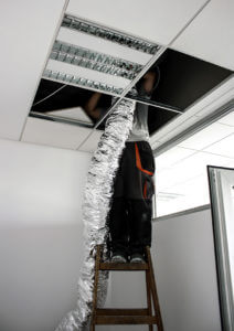 Air Duct Installing to Furnace